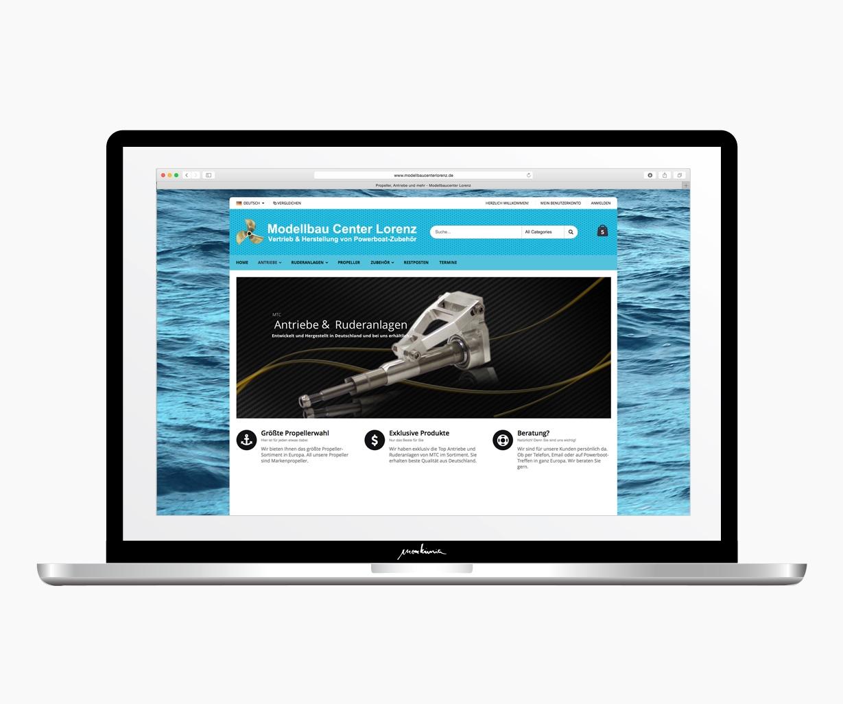 Modellbaucenterlorenz.de Website_Design