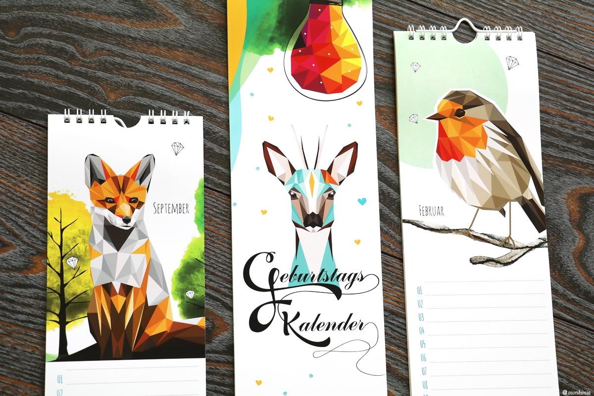 Geburtstagskalender monkimia Designkalender, Illustrationen