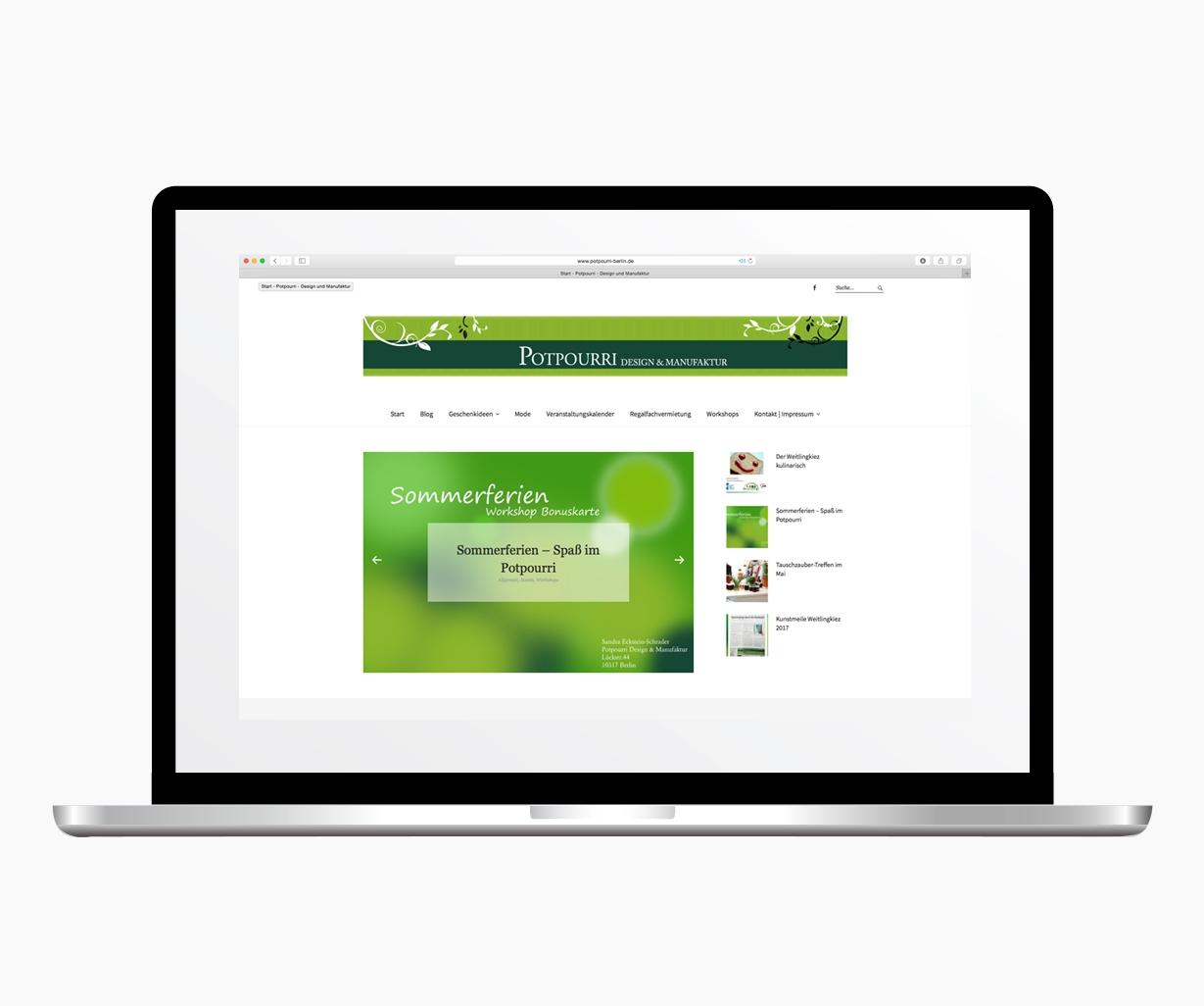 Webdesign Potpourri Design monkimia