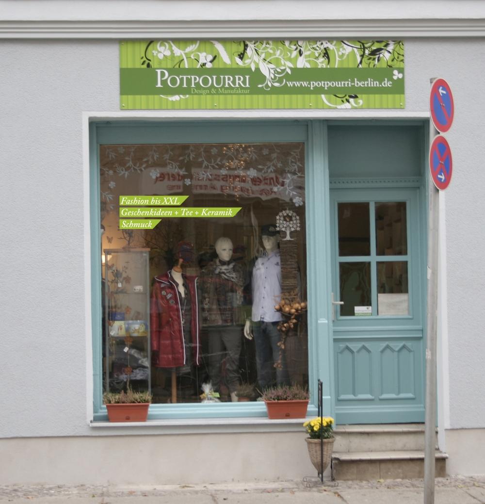 Ladenschild Design Potpourri Berlin