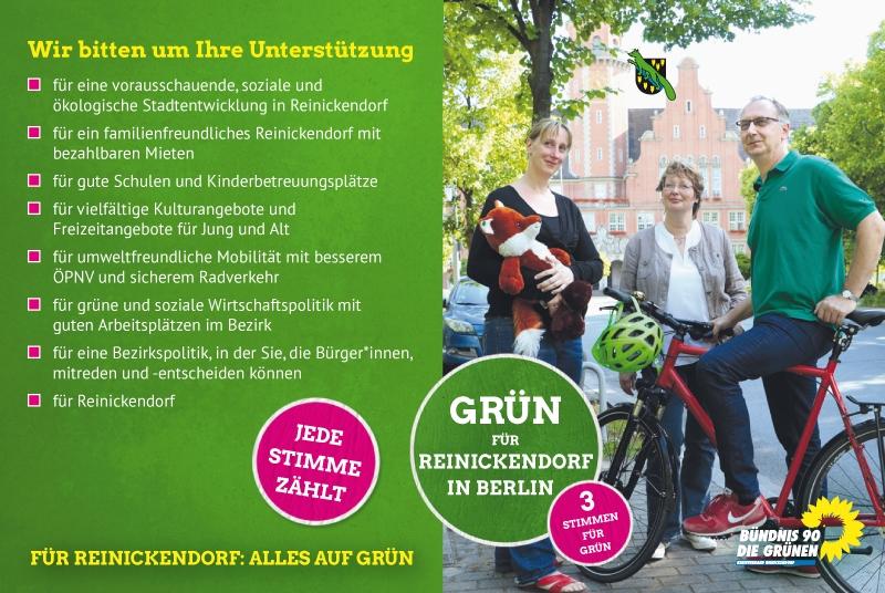 Anzeige Design Bündnis 90/Die Grünen