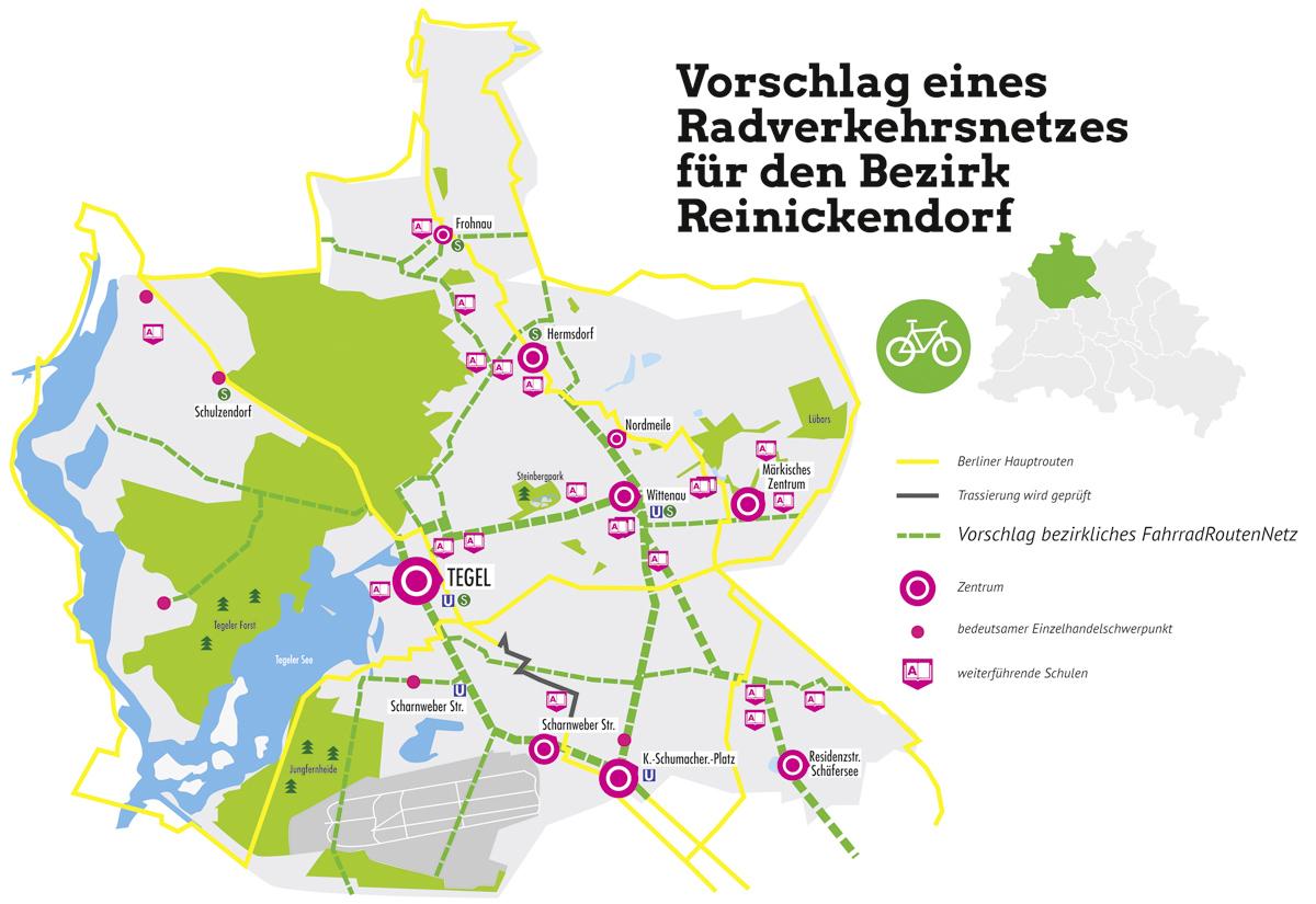 Fahrradkonzept Karten-Design Bündnis 90/Die Grünen