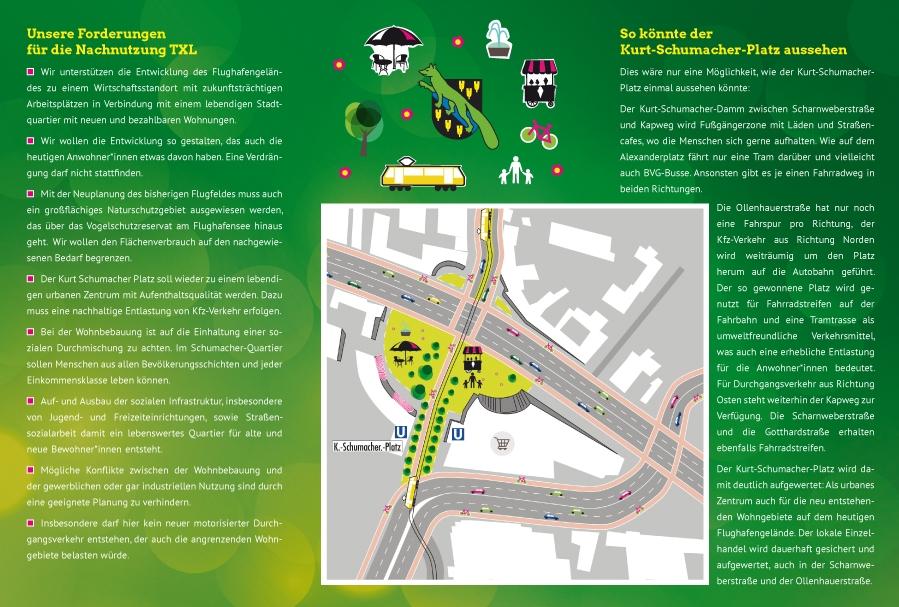 Flyer KutschiFlyer FahrradroutennetzAnzeige Design Bündnis 90/Die Grünen