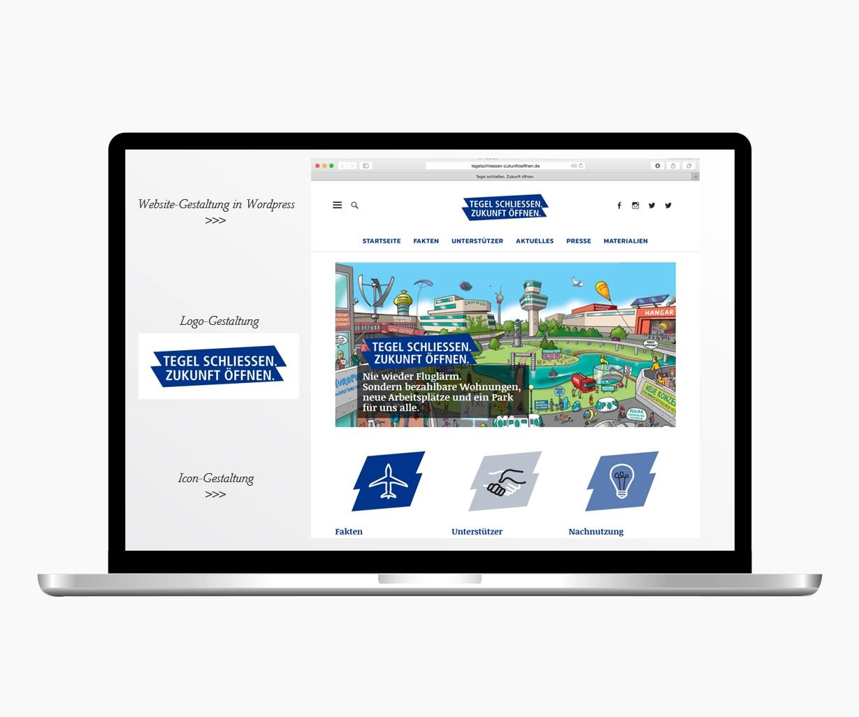 Website Gestaltung Tegel schliessen Zukunft öffnen
