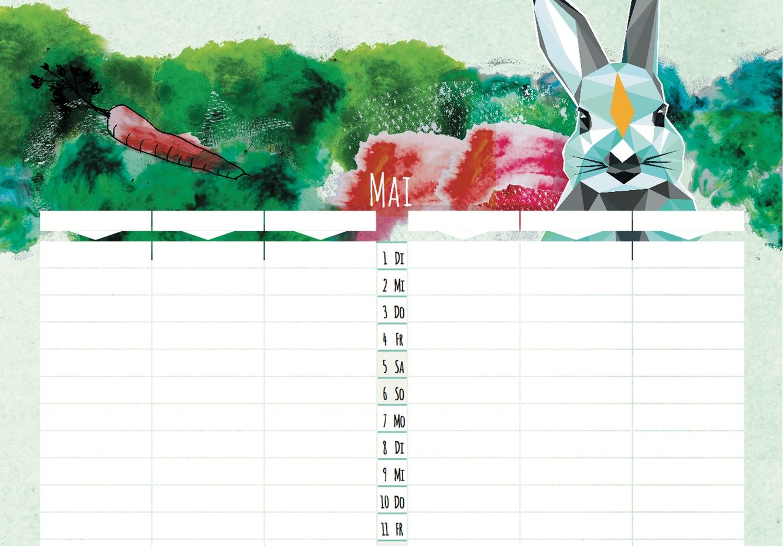 Kalender Familienplaner 2018
